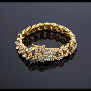 Other - New 18 k yellow gold Cuban bracelet